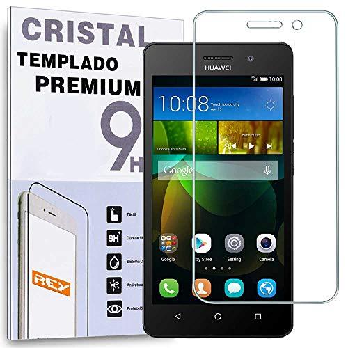 REY Protector de Pantalla para Huawei G Play Mini Cristal Vidrio Templado Premium