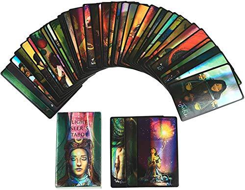 M STAR Tarot de vidente ligero: 78 cartas, guía PDF en línea, juegos de mesa holográficos de tierra adivinación para adultos y niños juego de mesa Dobble