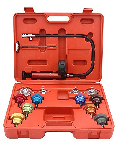 Learn More About 14pc Radiator Pump Pressure Leak Tester Checker Kit Aluminum Adapters W/ Case