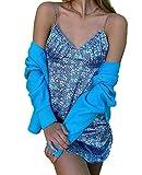 E-Girl Mini vestido sexy de mujer con correa de espagueti floral vestido de cóctel vintage elegante Boydcon vestido de novia de corte bajo