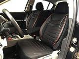 seatcovers by k-maniac V2412422 Fundas de Asiento para Hyundai i40 CW, universales, Color Negro y Rojo