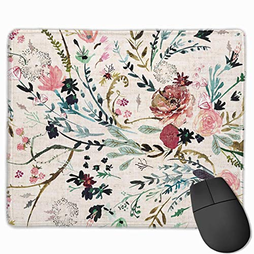 Fable Floral Gaming Mouse Pad Non-Slip Rubber Mouse Mat for Computers Desktops laptop 9.8' x 11.8'
