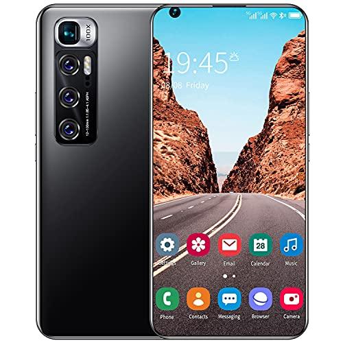 WYCF Teléfono Móvil Libre, M11 7,2 Pulgadas Dual SIM 4G Smartphone, 6GB RAM+128GB ROM, Cámara 13MP+24MP, Android 10.0, 5600mAh, Face ID, GPS, WiFi,Negro
