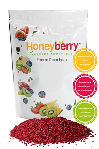 Freeze Dried Raspberry Pieces (100g), No Added Sugar, 100% Natural, Gluten...
