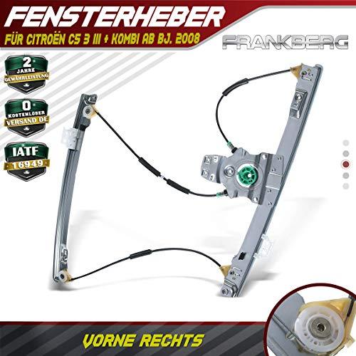 Frankberg Fensterheber Elektrisch Ohne Motor Vorne Rechts für C5 III Stufenheck Kombi ab Bj.2008-675898980