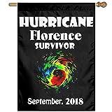Eriesy Flagge Fahnen Hurricane Florence Survivor September 2018 Flag Garden Flag Family Flag Party Flag 100% Polyester Fiber Vertical Indoor Flag
