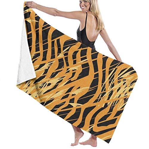 Ewtretr Badetücher Tiger Leopard Skin Mikrofaser Badetuch Weiche Hohe Absorption Schnell Trocknend Bad Reise Sport und More130cmx80cm