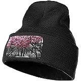 Cherry Blossom Trees Art Gorro de Punto Sombrero Suave Gorro de Punto Ligero a...