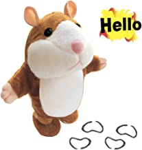 IMISO Walking Hamster Cute Mimicry Pet Talking Hamster Repeats What You Say Plush Animal Toy Electronic Hamster Stuffed Mouse for Kids Birthday (Upgraded, Brown)