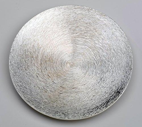 Kerzenteller, Dekoteller aus Alu gewölbt in Silber Ø 14 cm
