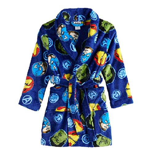 Boys Hulk, Iron Man, Captain America Fleece Bathrobe (8)
