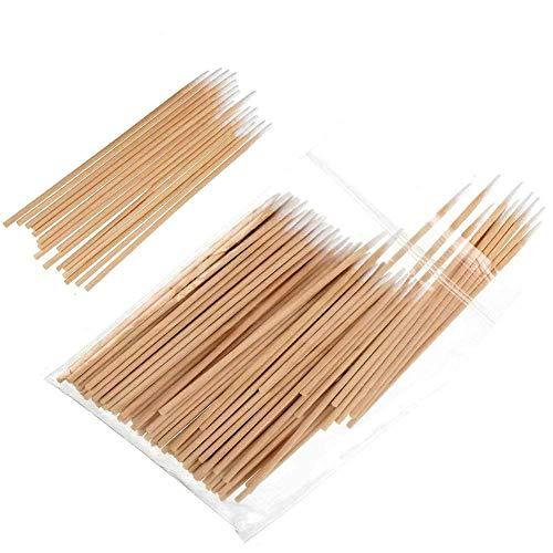 ANCLLO Lot de 500 cotons-tiges pointus avec manche en bois pour le maquillage, les bijoux, les oreilles, les tiges de nettoyage