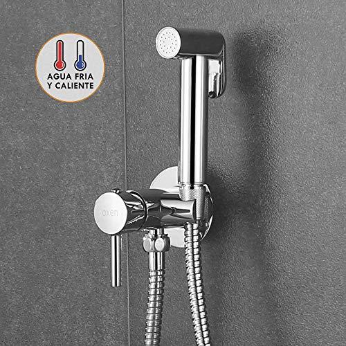 Kibath 1151414 higiene íntima para sustitución del Bidet. Monomando fría y Agua Caliente. Grifo para el WC con Ducha de Mano