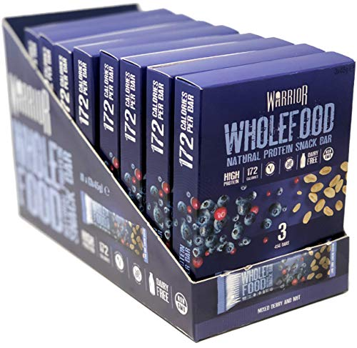 Warrior Wholefood Snack Bar 30 Bars Mixed Berry and Nut, 700 g