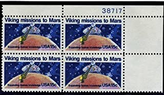 viking Missions To Mars 4 x 15 cents US postage stamps Scot #1759 by US Post Office Dept