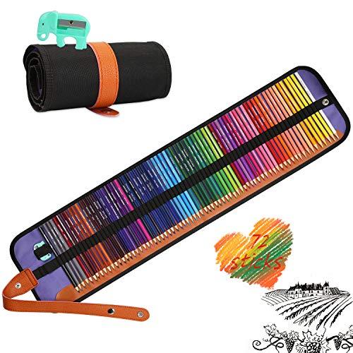 Sooair Buntstifte Set, 72 Farben Buntstifte für Erwachsene und Kinder, Malbuch für Erwachsene Schüler Kinder, Ideal zum Ausmalen von Seiten Erwachsene, Malbuch, Schreibutensilien
