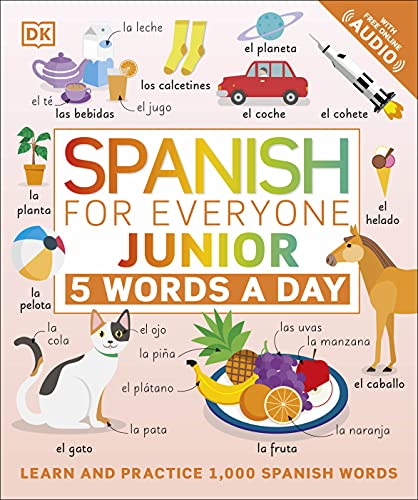 Spanish for Everyone Junior: 5 Words a Day Front Cover