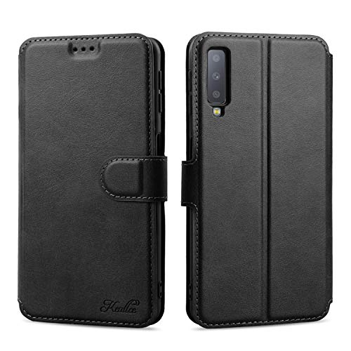 Keallce für Samsung Galaxy A7 (2018) Hülle, Handy Lederhülle PU Leder Hülle Brieftasche Handytasche Cover Kompatibel für Samsung Galaxy A7 (2018) Ledertasche-6.0