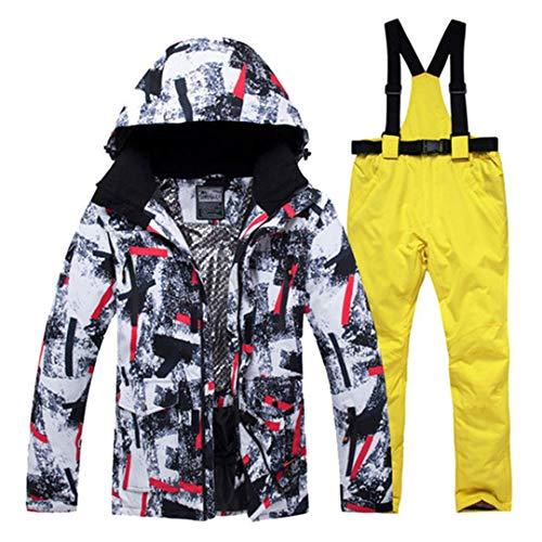 Jackenstr Outdoor Herren Skianzüge wasserdichte Schneejacke und Hose Ski und Snowboardbekleidungsset A9 L