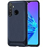 TheGiftKart Shockproof Carbon Fibre Soft Silicon Armor Back Cover Case for Realme 5i