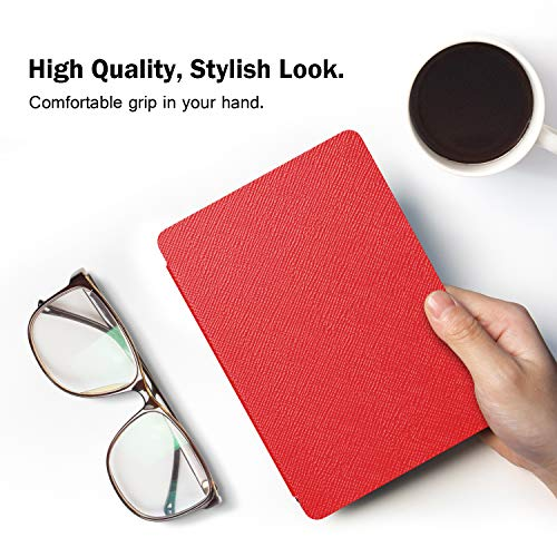 MoKo Hülle für Kindle 10.Generation 2019 Release, Die dünnste und leichteste Schutzhülle Smart Cover mit Auto Sleep/Wake - Rot