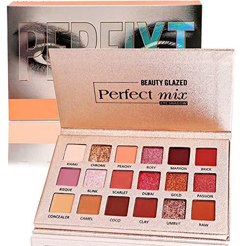 Beauty Glazed 18 Farbe Lidschatten Palette Matte Schimmer Eyeshadow Palette