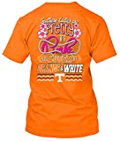 New World Graphics NCAA Pretty in Pink Short Sleeve T-Shirts (Tennessee Volunteers, Large)