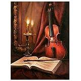 Pintar por Numeros Adultos Partitura de violonchelo DIY Pintura por con Pinceles y Pinturas-16 * 20 Pulgadas Sin Marco Niños