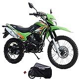 X-Pro 2020 Version Hawk 250 Dirt Bike Motorcycle Bike Dirt Bike Enduro Street Bike Motorcycle Bike with Motorcycle Cover(Green)