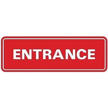 2 Pack Entrance Left Arrow Print Notice Customer Employee Business Store Horizontal Door Sign Large 12x18
