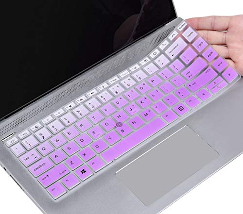 Keyboard Cover for HP Elitebook 840 G6, 840 G5 14' / HP Elitebook 745 G6, 745 G5 14' / HP Zbook 14U G5 G6 14 inch Laptop, HP Elitebook Keyboard Protector Skin, Ombre Purple&Pink