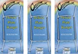 Creative Hobbies Deluxe Plate Display Hangers, Spring Style- Assembled & Ready to Use -Hold 10 to 14 Inch Plates- White Coated Wire Spring Type, Hanger Hooks & Nails Included -Pack of 3 Hangers