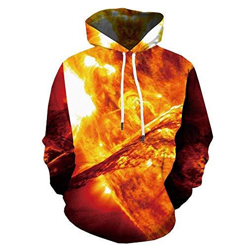 LMSDALAO Sweat-shirts à capuche Galaxy Space Hoodie Globe Sweat À Capuche Imprimé À Capuche pour Hommes
