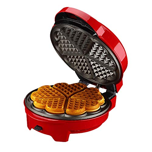 Elektrische wafelijzer, huishouden Multifunctionele Waffle Machine, Afneembare bakplaat, Automatic Constant Temperature Control, Dubbelzijdig Verwarming, for wafels, Snacks