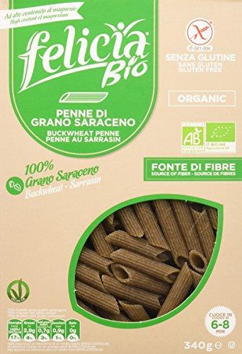 Felicia Penne Rigate Pasta di Grano Saraceno - 340 gr, Senza glutine