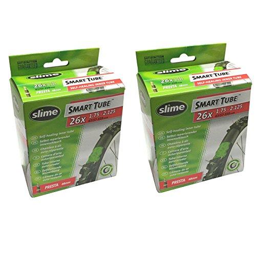 Slime Smart Tube Self Healing 26' x 1.75-2.125 Presta Inner Tubes (Pack of 2)