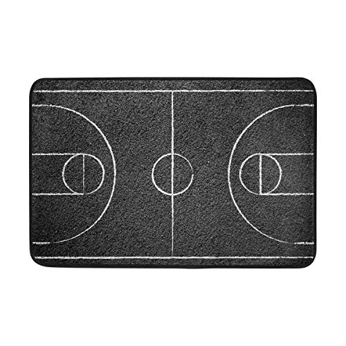 artyly Street - Felpudo de Baloncesto para Puerta de Entrada, tapete de Piso para Interior/Exterior/Puerta Delantera/baño/Cocina de Goma, superabsorbente, Antideslizante, 40 x 60 cm