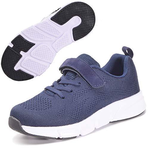 Zapatillas Deportivas para Niños Ligeras Zapatillas de Correr Niñas Calzado de Deporte Zapatillas de Running Sneakers Azul Oscuro 29