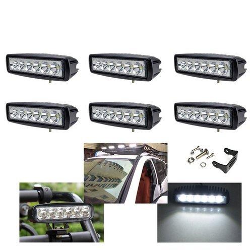 VINGO 6pcs 18w LED Scheinwerfer led light bar Arbeitsscheinwerfer wasserdicht 6500 K Aluminium