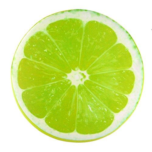 OurLeeme Leggero Portatile Tondo Morbido Cuscino Peluche Limone Frutta sede del Rilievo Indietro