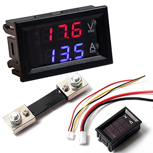 Digital Voltímetro Amperímetro Medidor Actual Derivación DC 100V 100A