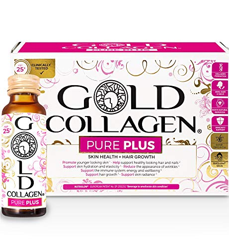 Gold Collagen Pure Plus | The Original #1 Hydrolysed Marine Collagen Supplement | Rocket for Hair Growth & L Arginine, Vitamin B3 & B5 for Radiant Skin, Healthy Hair & Nails