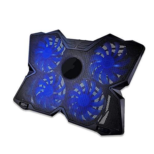 NCRD Pad for Raffreddamento for Laptop 11'-17' Cooler Pad Bright Mat 4 Ventili Tranquilli Luci a LED e 2 Porte USB