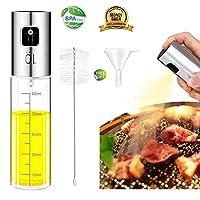 オイルスプレー 油スプレー 調味料入れ 100ml ステンレス オイルミスト 調理器具 オイル 容器 酢/油/醤油/調味料/化粧水用 霧吹き バーベキューに適用