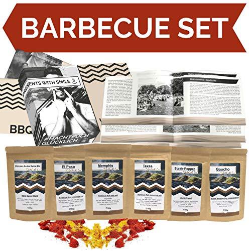 BBQ Geschenk Set Grillgeschenk | Grill Geschenkset mit BBQ Rubs & Steak Pfeffer Geschenkidee für Männer Freund | Gewürzset BBQ Geschenk Box Geburtstag