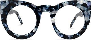 Zeelool خمر كبيرة الحجم سميكة عين القط الأزرق حجب الضوء Gl للنساء Ophelia VFP0290
