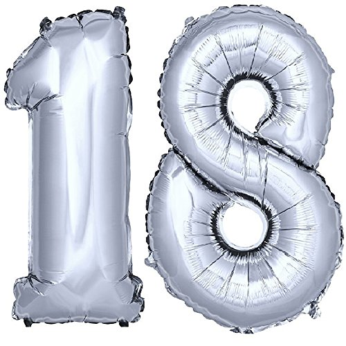 DekoRex Foil balloons from 40'' numbers for birthday party anniversary for...