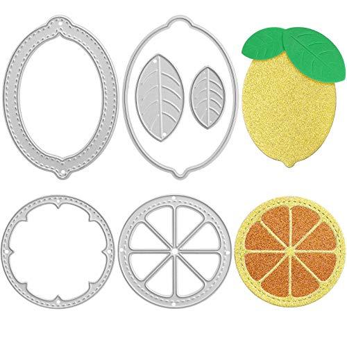 OOTSR Troqueles Scrapbooking de Limón y Naranja, Plantilla de Estampado de Hoja de Acero al Carbono Plantilla de Grabado en Relieve de Acero al Carbono DIY Cuchillo de Corte Plantilla