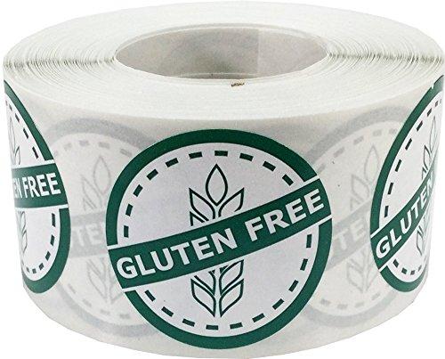 Gluten Free Lebensmittel-Allergie Lebensstil Kreis-Aufkleber, 32 mm 1,25 Zoll Sicherheitskennzeichnungen 500 Packung