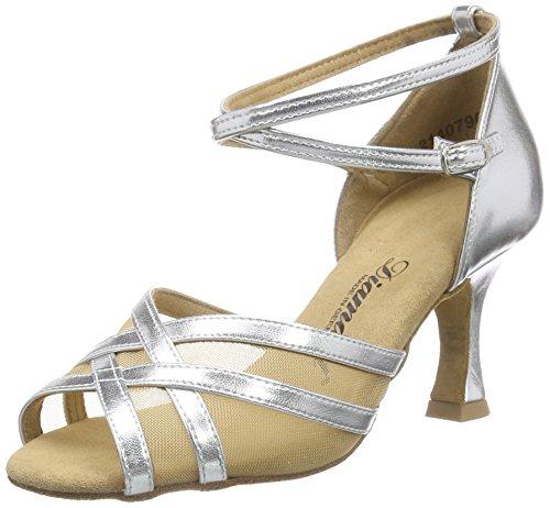 Diamant Latein 035-087-013 Damen Tanzschuhe - Standard & Latein, Silber (Silber), 40 EU (6.5 UK)